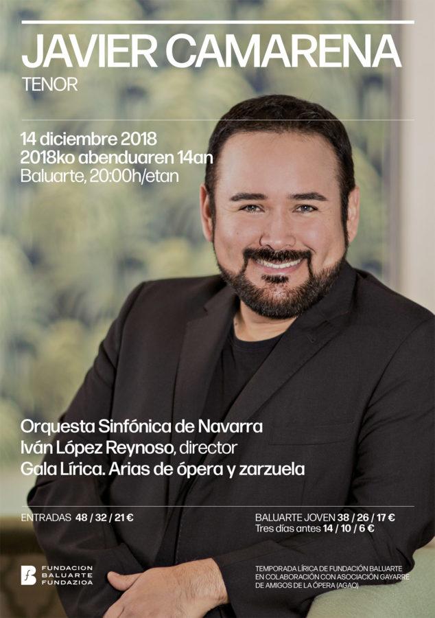 Javier Camarena con la Orquesta Sinfónica de Navarra en Baluarte